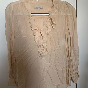 Sandro cream blouse size 1